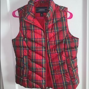 NWOT flannel looking vest!